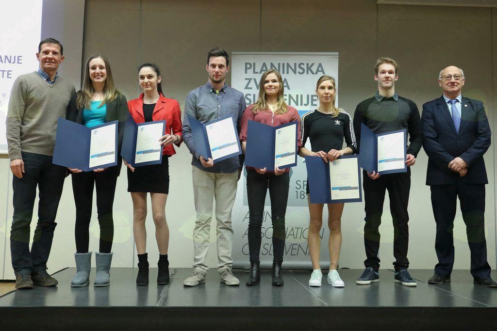 Priznanja PZS za vrhunske dosežke v alpinizmu, športnem in lednem plezanju ter turnem smučanju za leto 2017