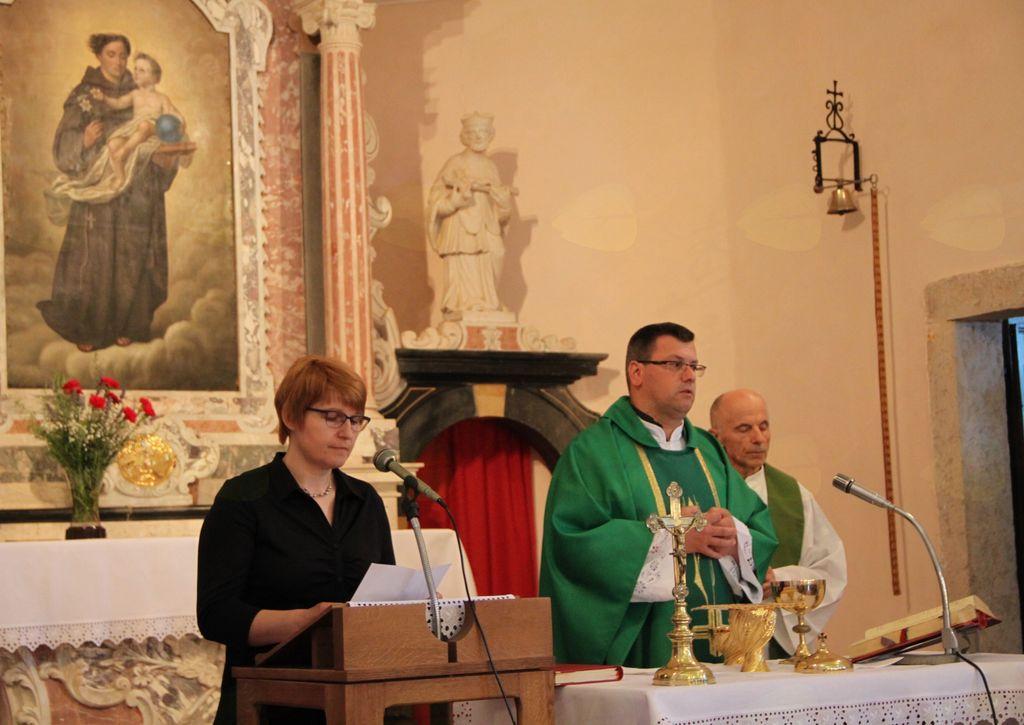 Spominsko bogoslužje na šagro sv. Antona na Fužinah