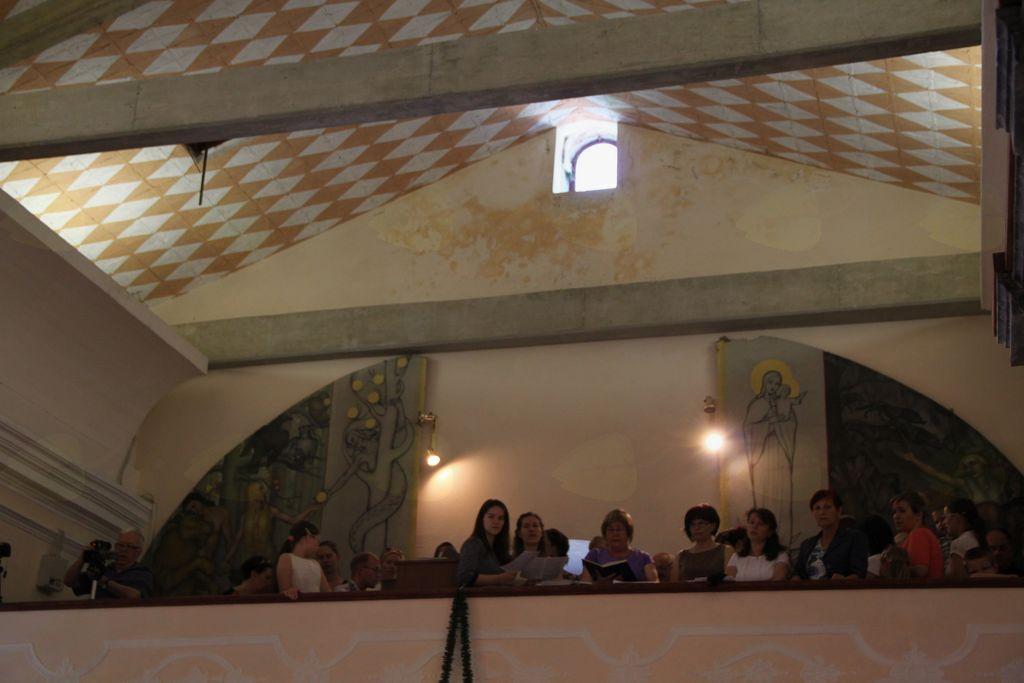 Pevci in organist MePZ župnije Šturje
