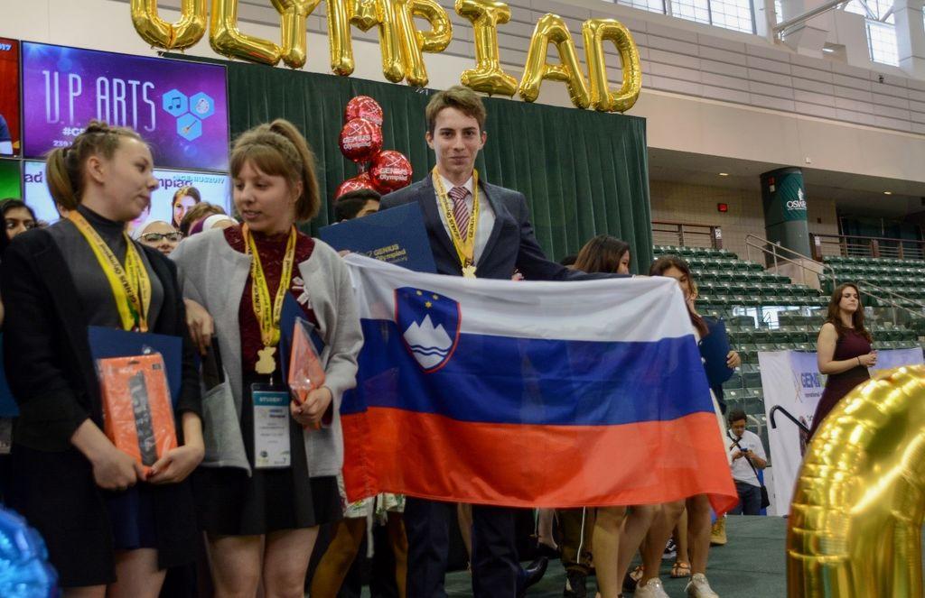 Podelitev medalj v Ameriki