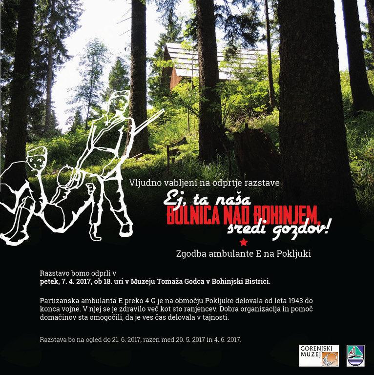 OBČASNA RAZSTAVA: Ej, ta naša bolnica nad Bohinjem, sredi gozdov!