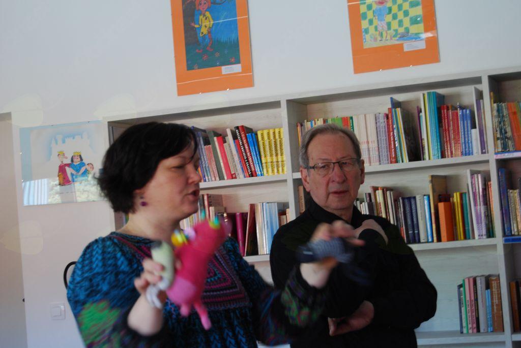 Ilustratorka Galina Milinova s Češke  in prevajalec Peter Kuhar