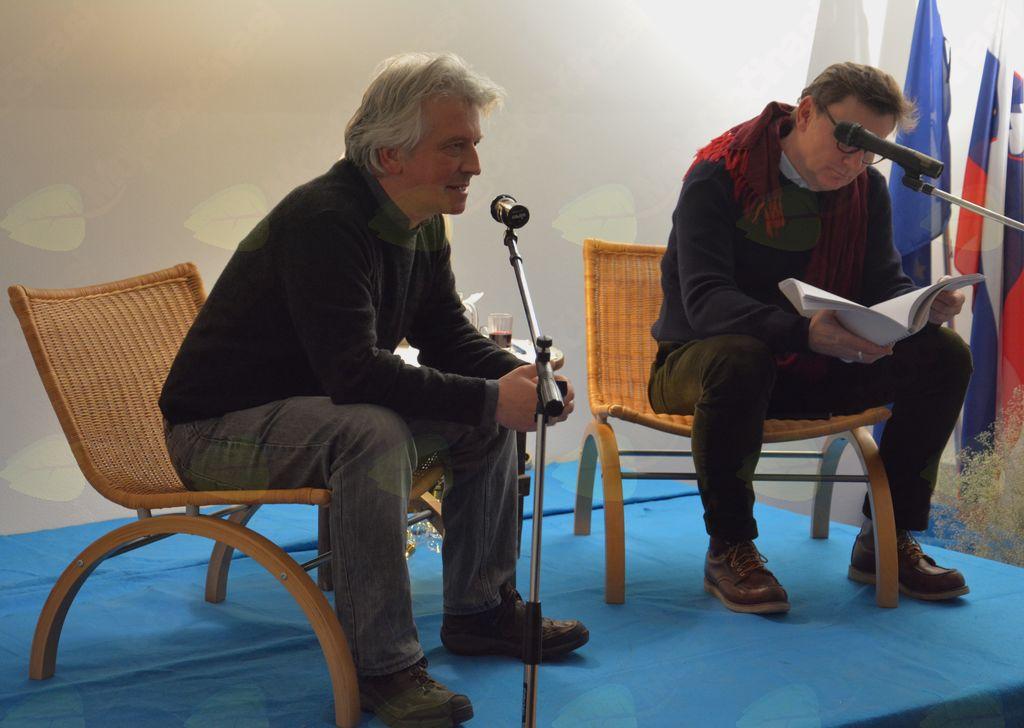 Sogovornika na odru: Iztok Mlakar in dr. Oto Luthar