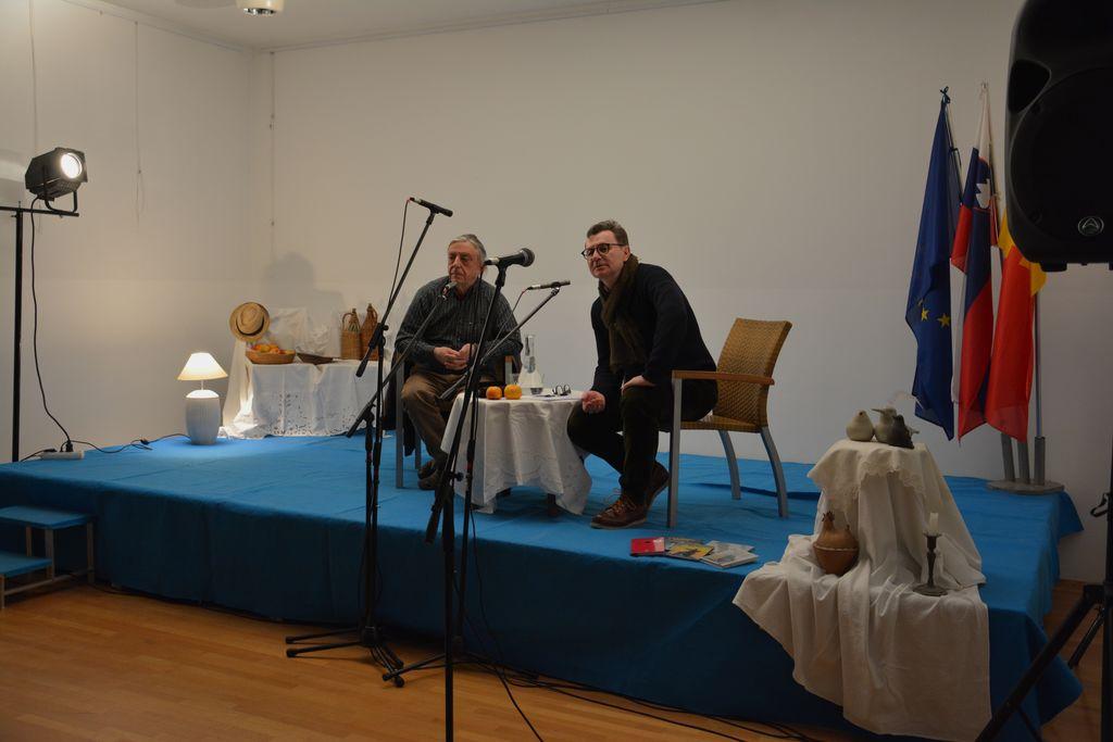 Sogovornika na odru, Andrej Rozman Roza in dr. Oto Luthar