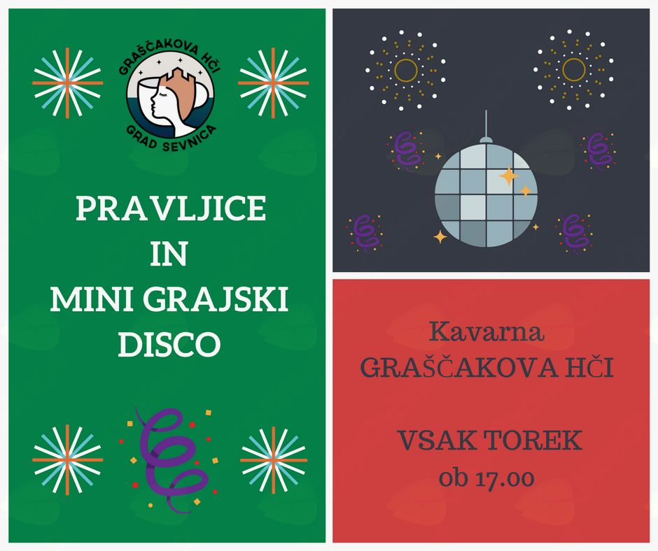 PRAVLJICE IN MINI GRAJSKI DISCO