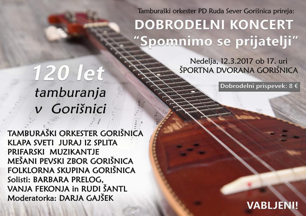 Veliki Koncert - 120 let Tamburaškega Orkestra Gorišnica