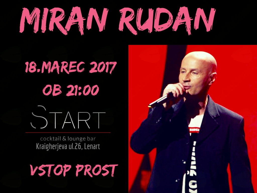 Koncert MIRAN RUDAN v START baru