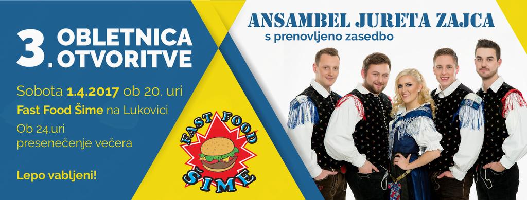 3. Obletnica otvoritve Fast food Šime Lukovica