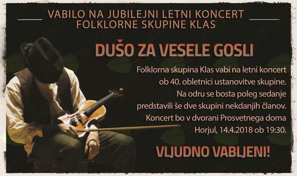 Jubilejni letni koncert folklorne skupine