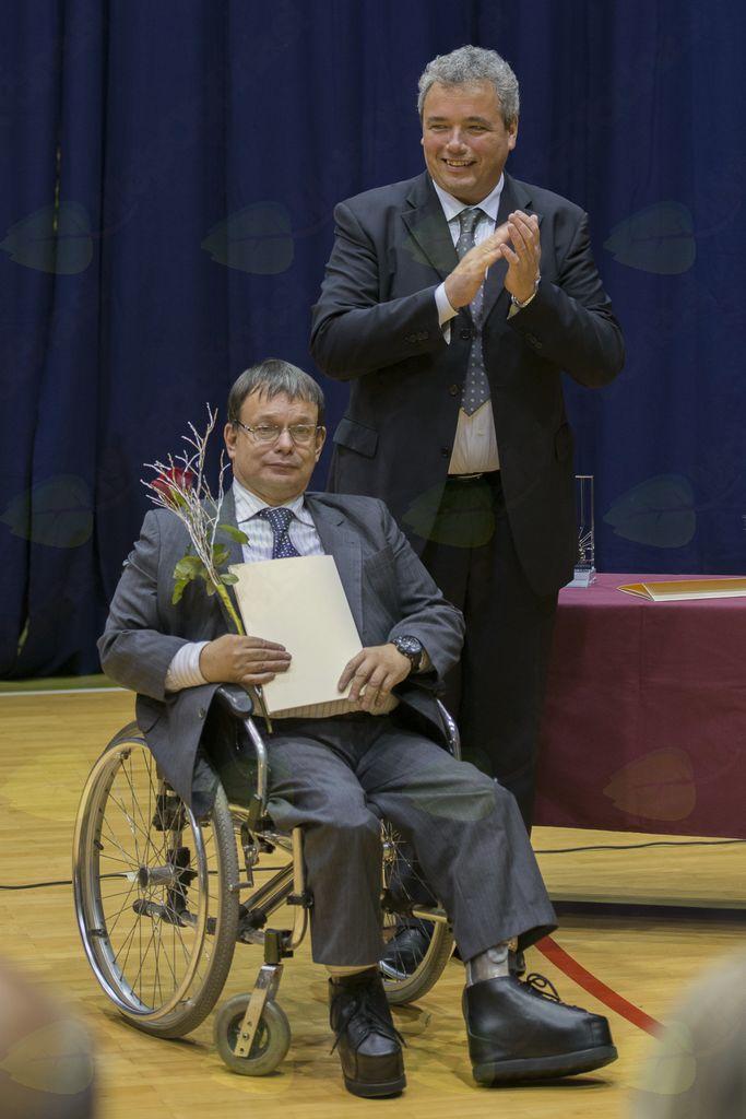 Valter Adamič in župan Mauricij Humar