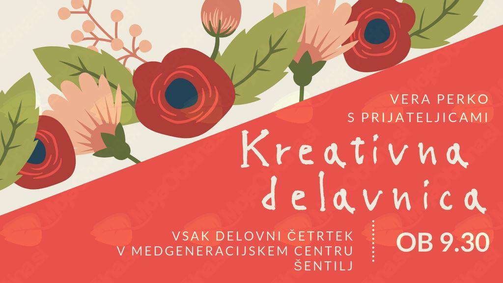 Pridružite se nam na kreativni delavnici z Vero Perko in prijateljicami