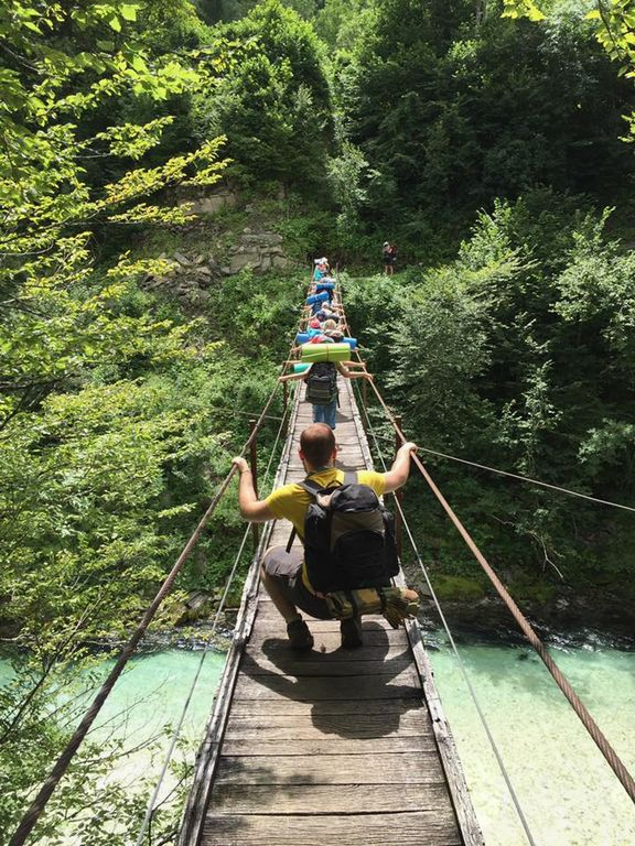 Pot do tabora je bila tudi adrenalinska