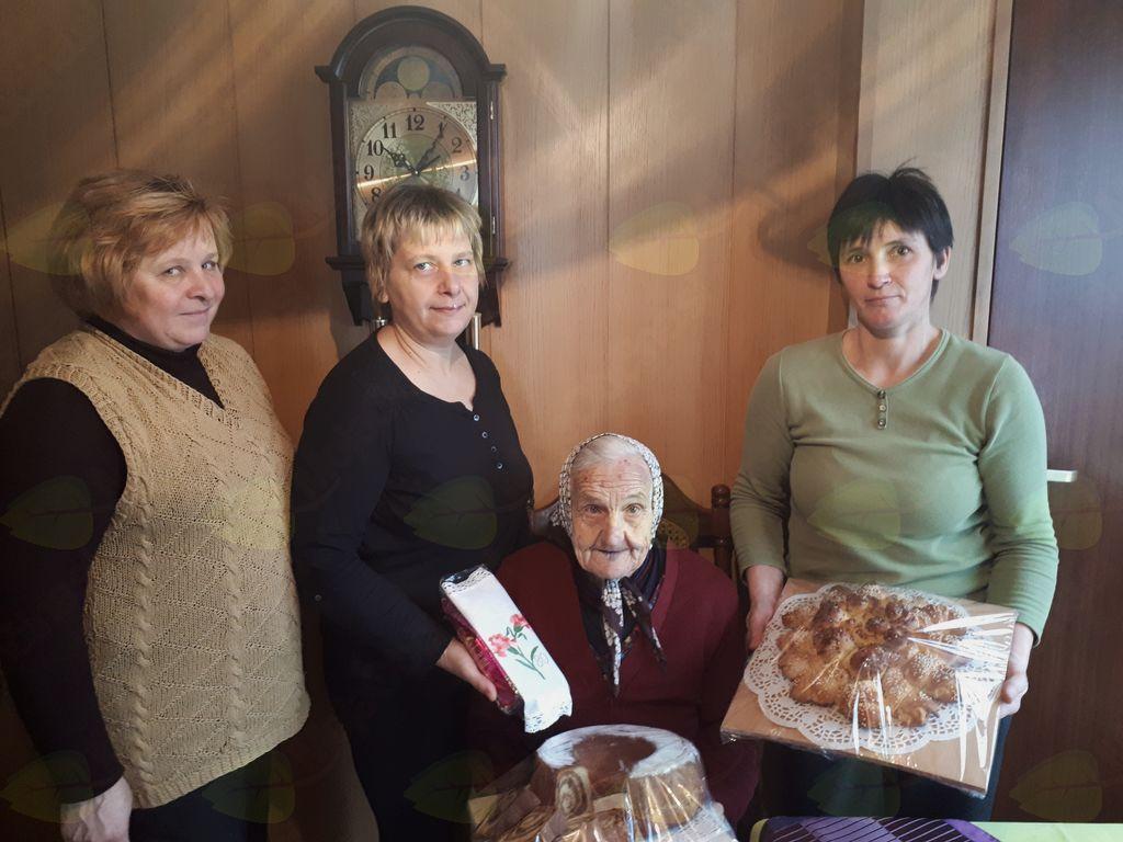 80 let Frančiške Koren iz Podlipe