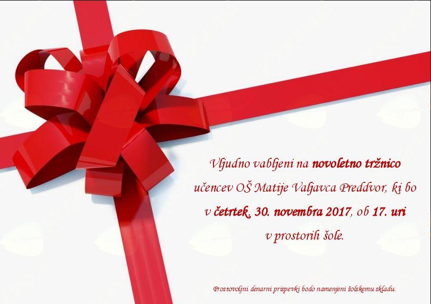 Novoletna tržnica OŠ Matije Valjavca Preddvor