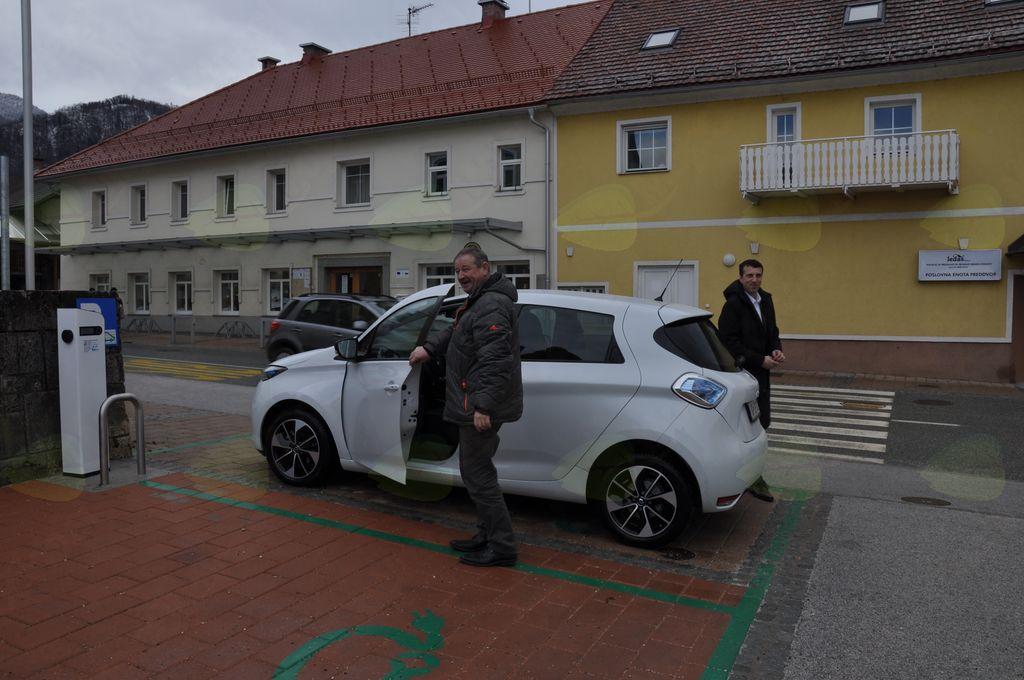 Promocijska vožnja z električnim avtomobilom