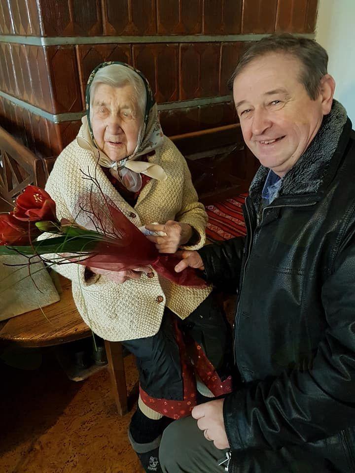102. rojstni dan Mance Rogelj iz Potoč