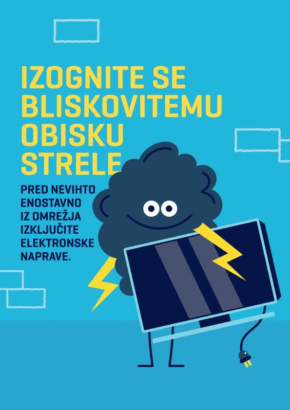 Ob nevihtah priporočamo izklop komunikacijskih naprav iz električnega omrežja