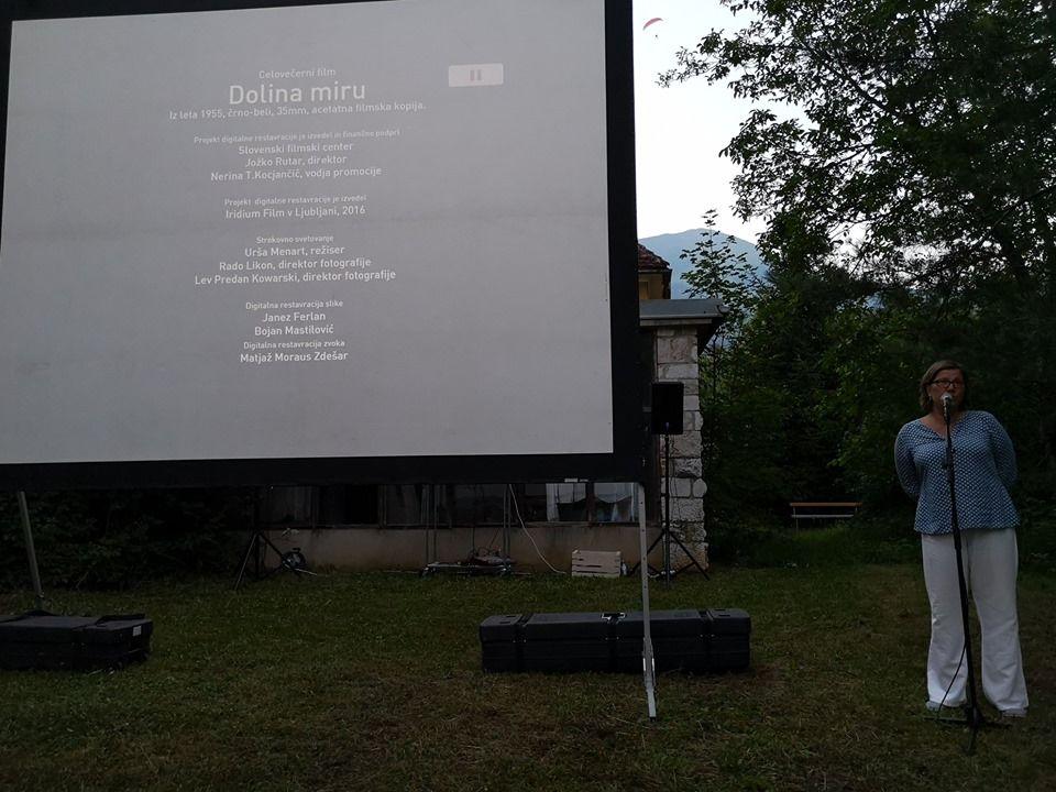 Prvi filmski večer pod zvezdami v Preddvoru
