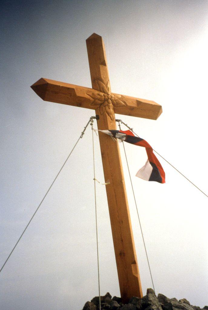 Križ na Storžiču, avgusta 1999
