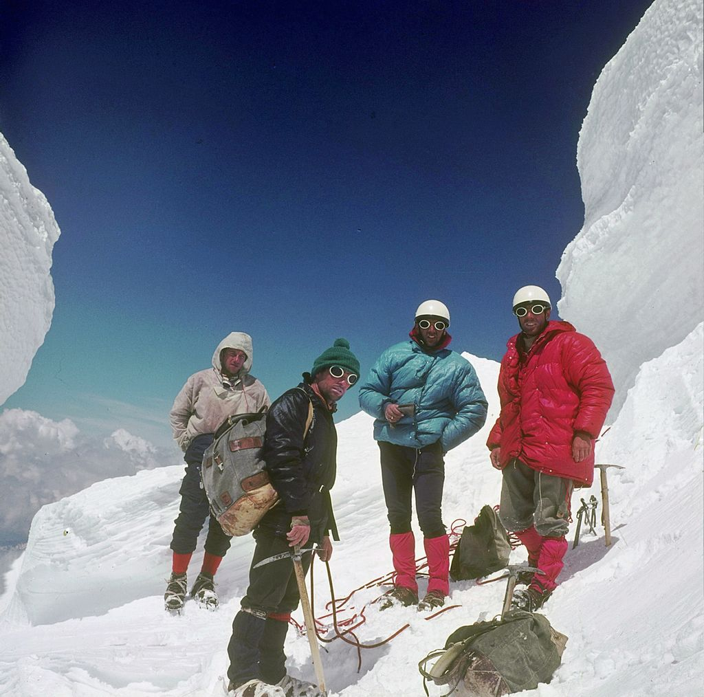 Na izstopu iz smeri pod vrhom Mont Blanca: Taler Polde, Jamnik Tomaž, Belehar Iztok, Ekar Franci