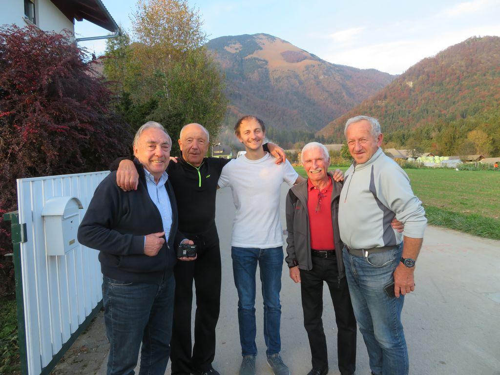 Srečanje po 50 letih: Franci Ekar, Iztok Belehar, Miha Zupin, Tomaž Jamnik, Polde Taler