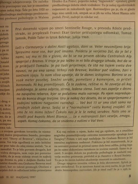 Alpinistični razgledi, štev. 62/1997