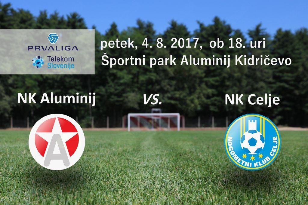 Aluminij : Celje - 4. krog Prve lige Telekom Slovenije 2017/18