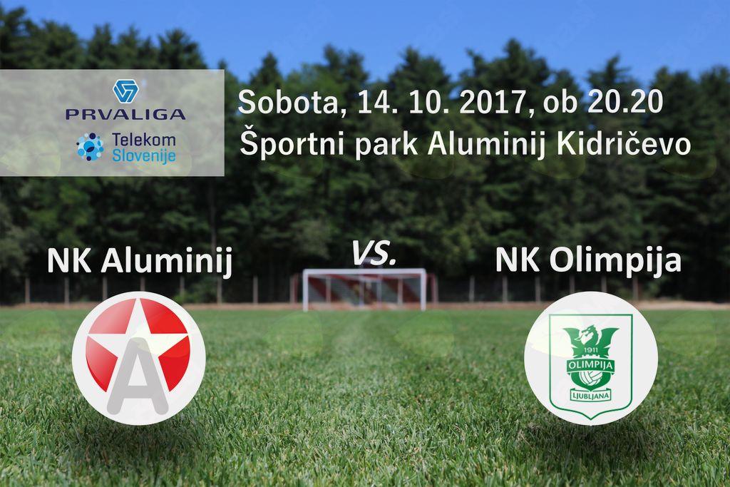 Aluminij : Olimpija, 12. krog Prve lige Telekom Slovenije 2017/18