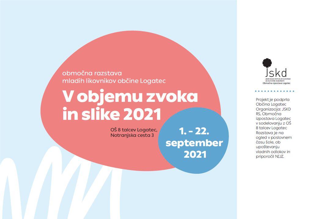 V objemu zvoka in slike 2021, Območna razstava mladih likovnikov
