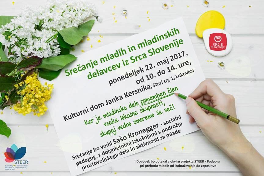 Srečanje mladih in mladinskih delavcev iz Srca Slovenije