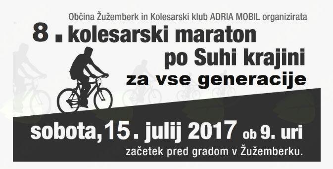 8. kolesarski maraton po Suhi Krajini