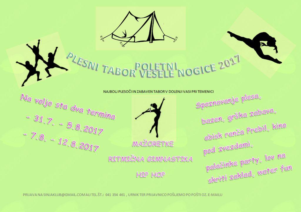 Plesni tabor Vesele nogice 2017