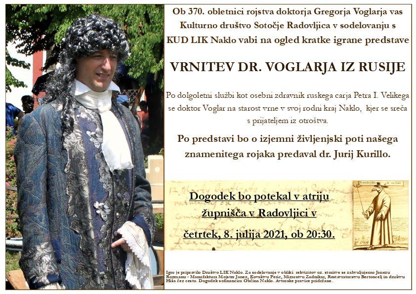 VRNITEV DR. VOGLARJA IZ RUSIJE