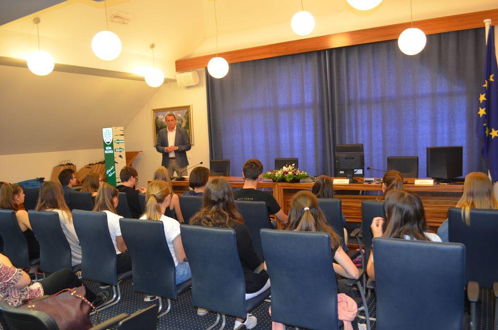 Županov sprejem nadarjenih osnovnošolcev