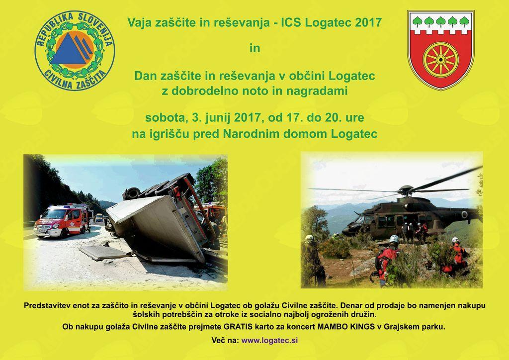 Vaja zaščite in reševanja - ICS Logatec 2017 in Dan zaščite in reševanja v Občini Logatec