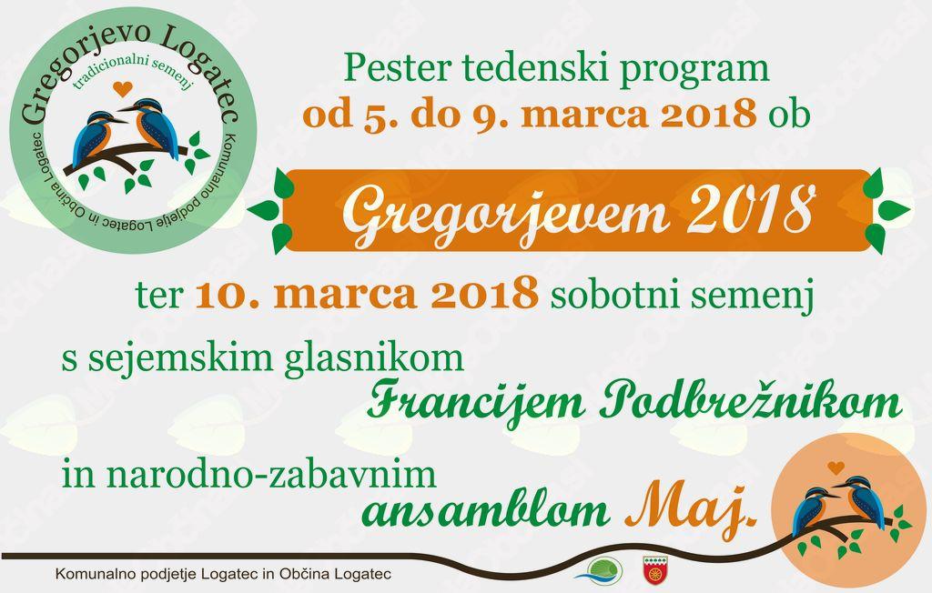 Gregorjevo in Gregorjev sejem 2018 v Logatcu