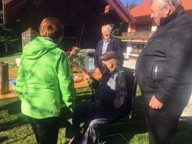 Jeršič Mihael čil in zdrav na svoj 105. rojstni dan