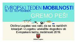 Evropski teden mobilnosti 2019 - GREMO PEŠ!