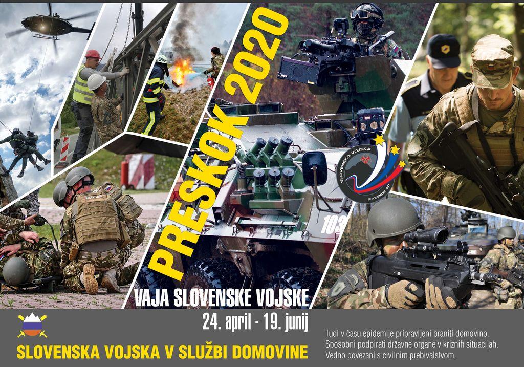 Slovenska vojska vzdržuje pripravljenost in nadaljuje niz vaj Preskok 2020