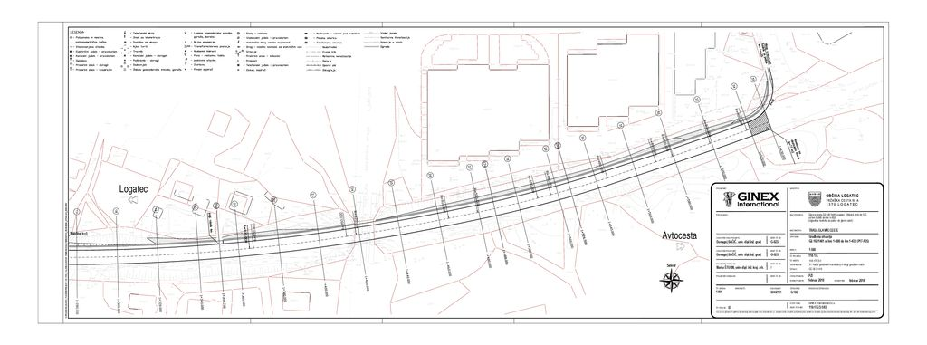 Izgradnja hodnika za pešce ob glavni cesti G2-102/1461 Logatec (Martinj hrib)
