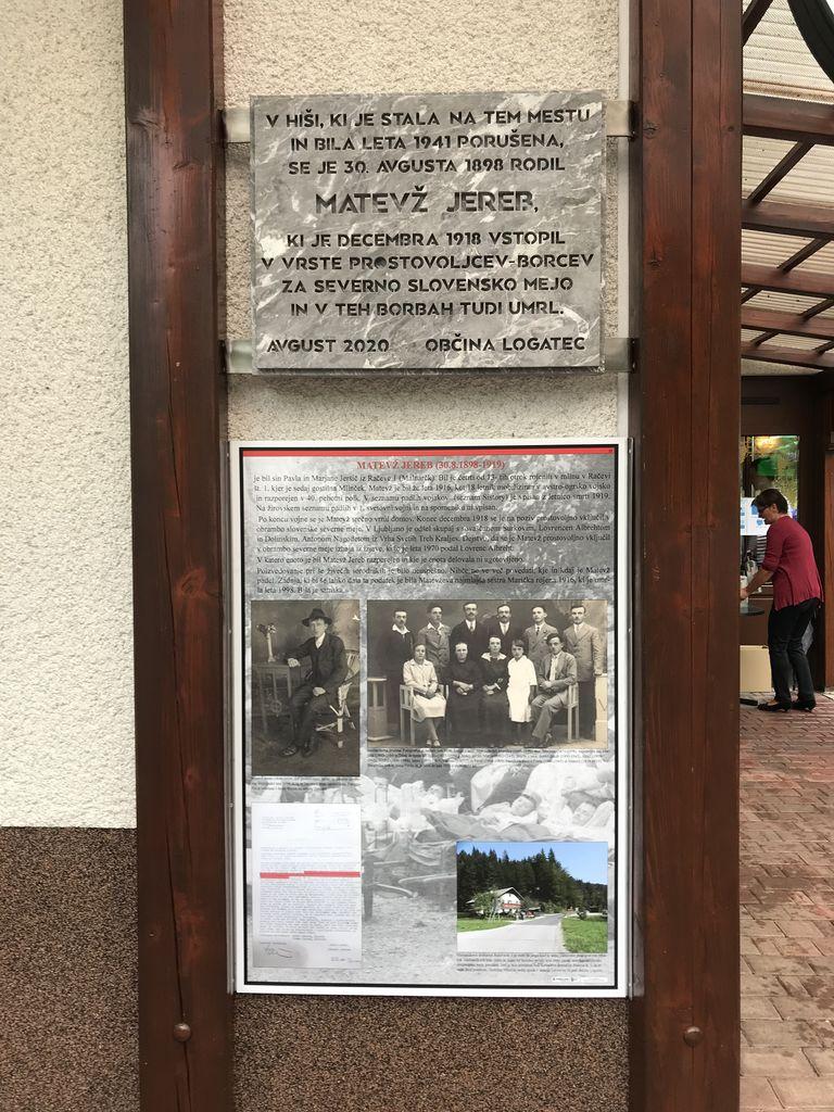 Odkritje plošče padlemu Maistrovemu borcu Matevžu Jerebu