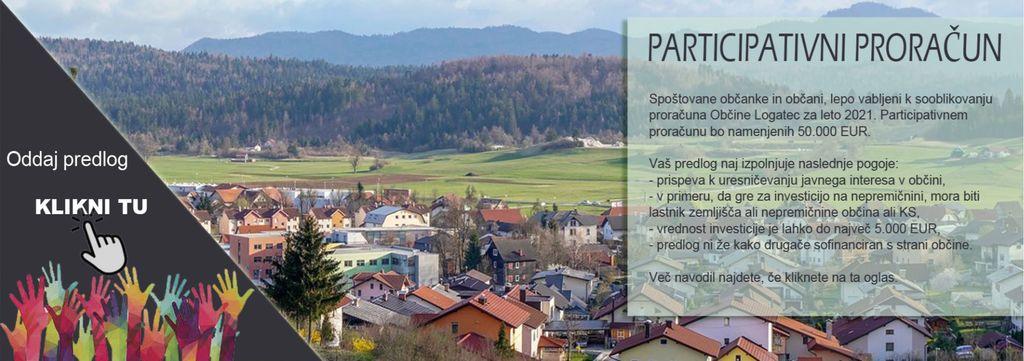 Uresničitev vaših predlogov v okviru participativnega proračuna Občine Logatec 2021