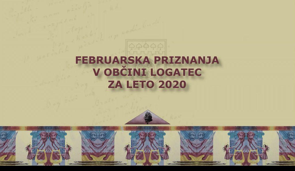 Februarska nagrajenca za leto 2020 v občini Logatec - avdio-video predstavitev