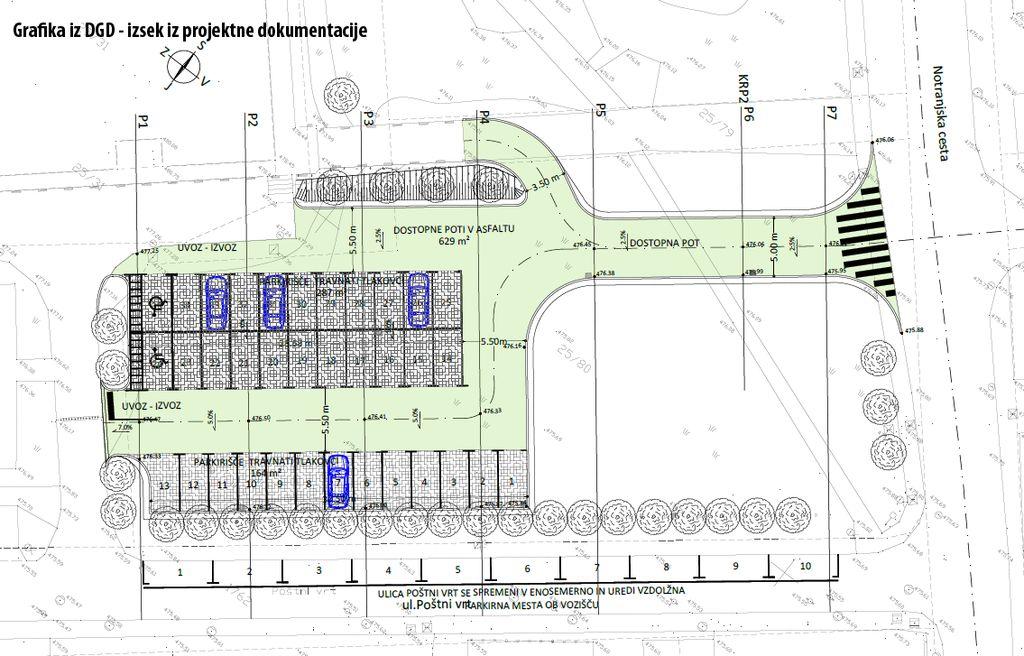 Grafika iz DGD – izsek iz projektne dokumentacije DGD
