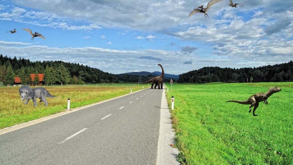 Obdobje dinozavrov v Logatcu, ko še ni bilo avtomobilov - Evropski teden mobilnosti 2021