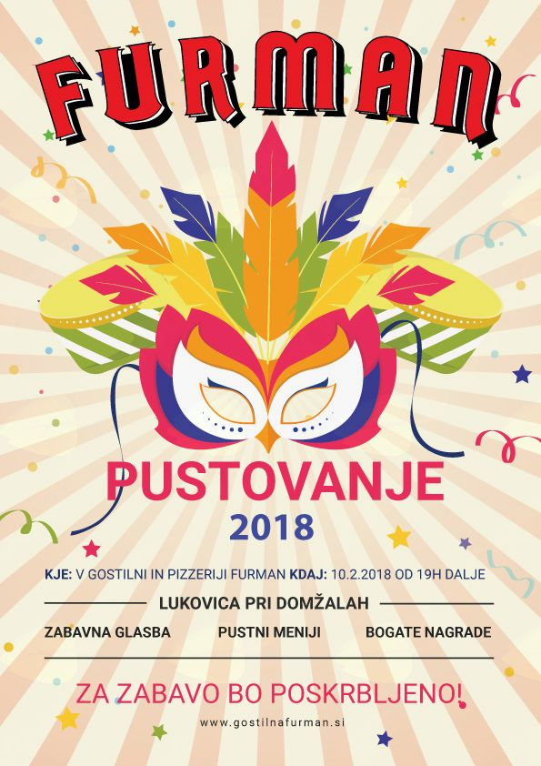 Pustovanje 2018 v Gostilni in pizzeriji Furman