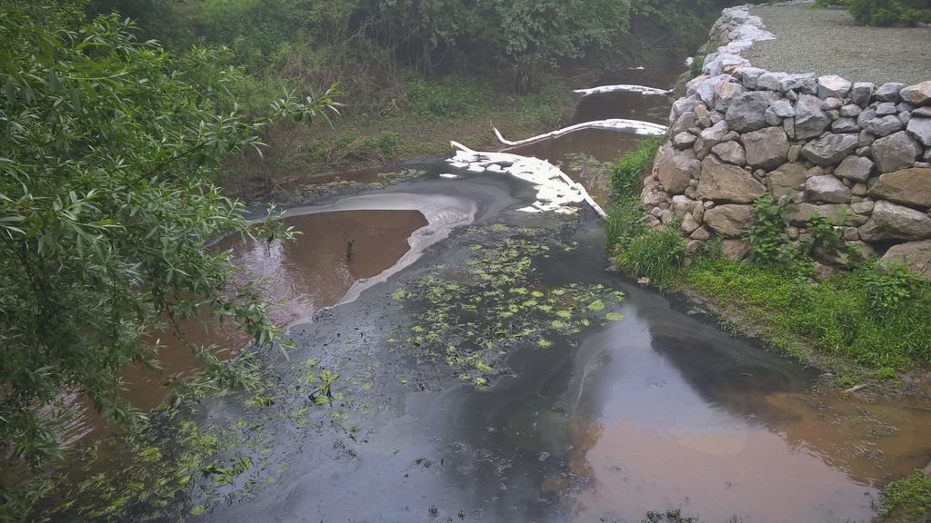 Onesnaženje potoka Tojnica po požaru v KEMIS-u