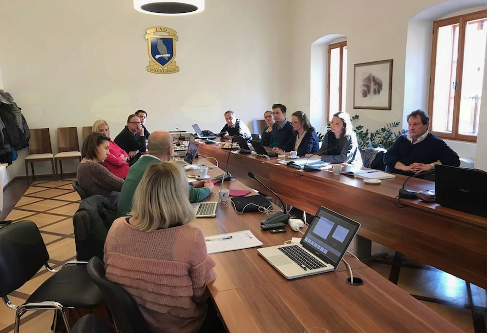 Srečanje projektnih partnerjev RETINA v dvorcu Lanthieri v Vipavi
