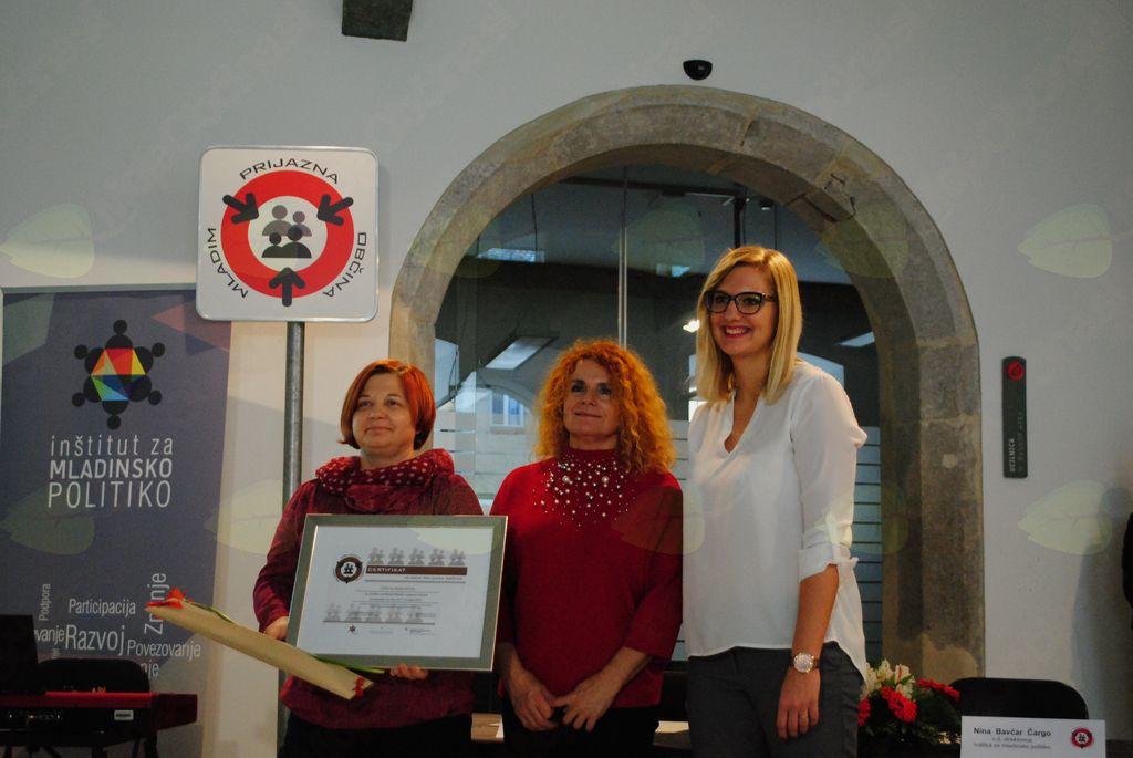 Mojca Remškar Planinc, Jasmina Vidmar (SOS) in Nina Bavčar Čargo (IMP)