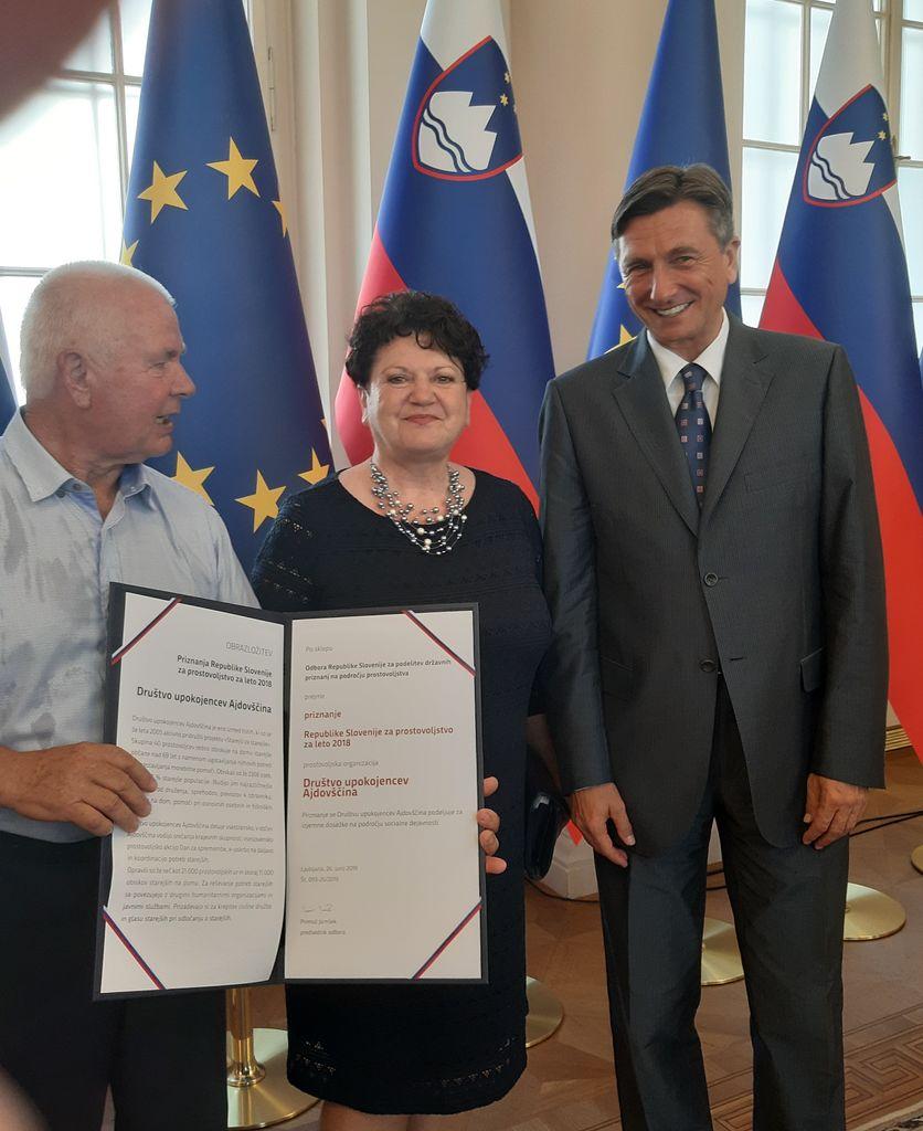 Državno priznanje projektu Starejši za starejše